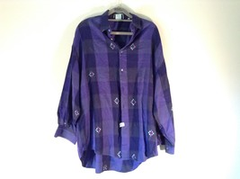 Violet  Blue Size 39 Dress Shirt by Britches of Georgetowne GREAT CONDITION