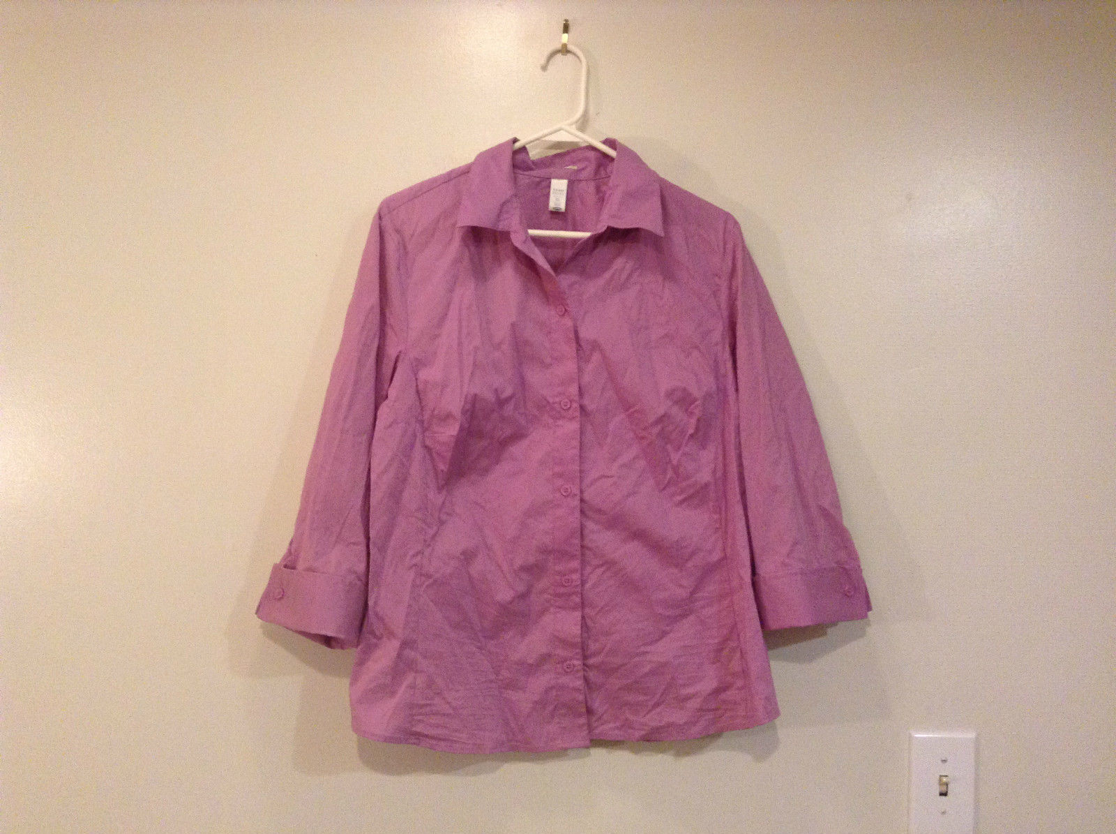 Violet Front Button Up Old Navy Stretch Shirt Size XL