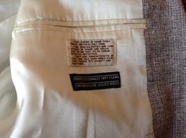 Barrington Gray Wool Suit Jacket with 100 Percent Silk Lining Measurements Below image 7