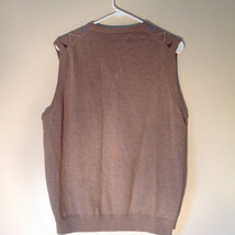 Bass Tan Light Brown Sweater V Neck Casual Diamond Shaped Design Size Small image 9