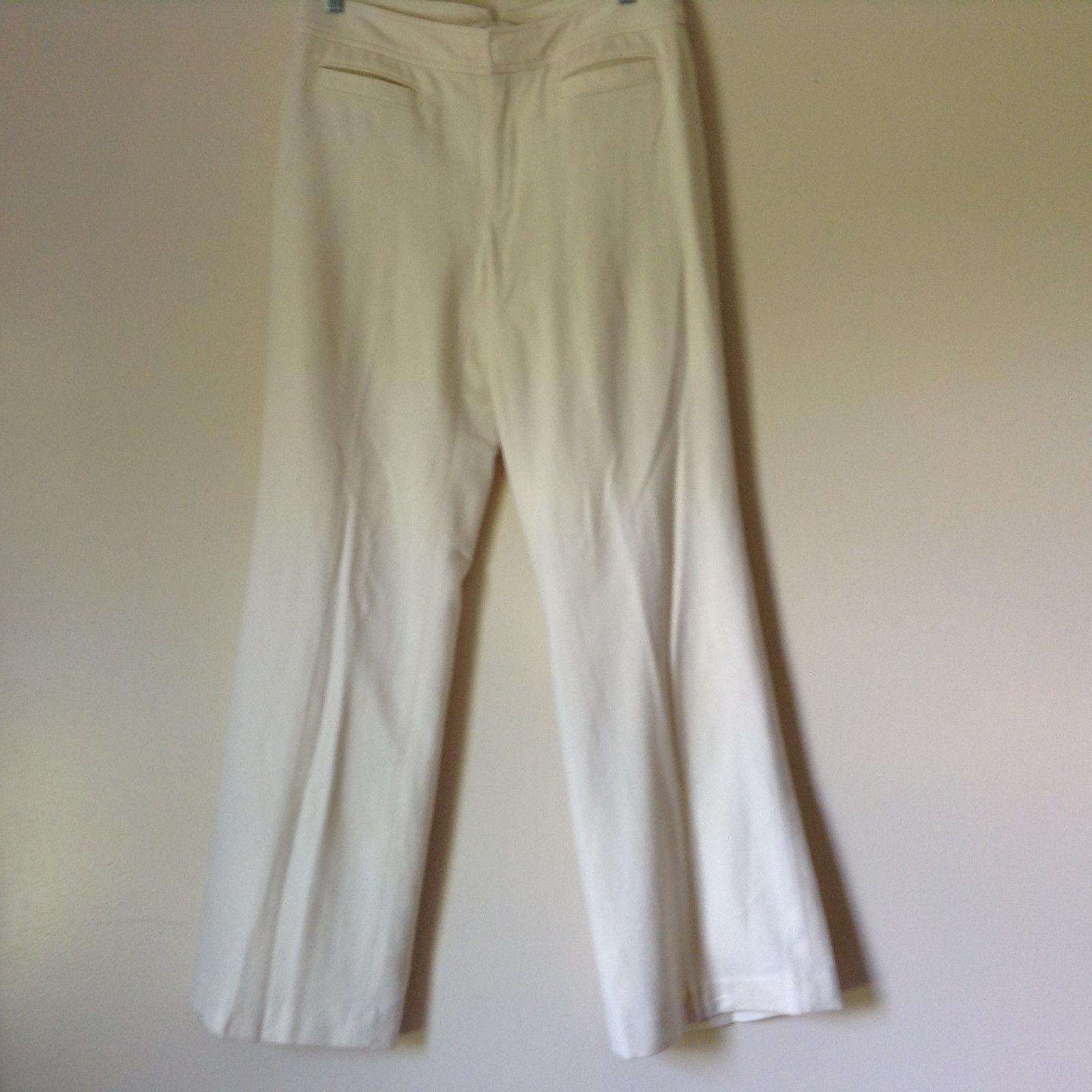 White Dress Pants by Banana Republic Harrison Stretch Size 6