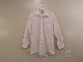 White Edwards Signature Long Sleeve Button Up Shirt Size S 30 to 31 Chest Pocket
