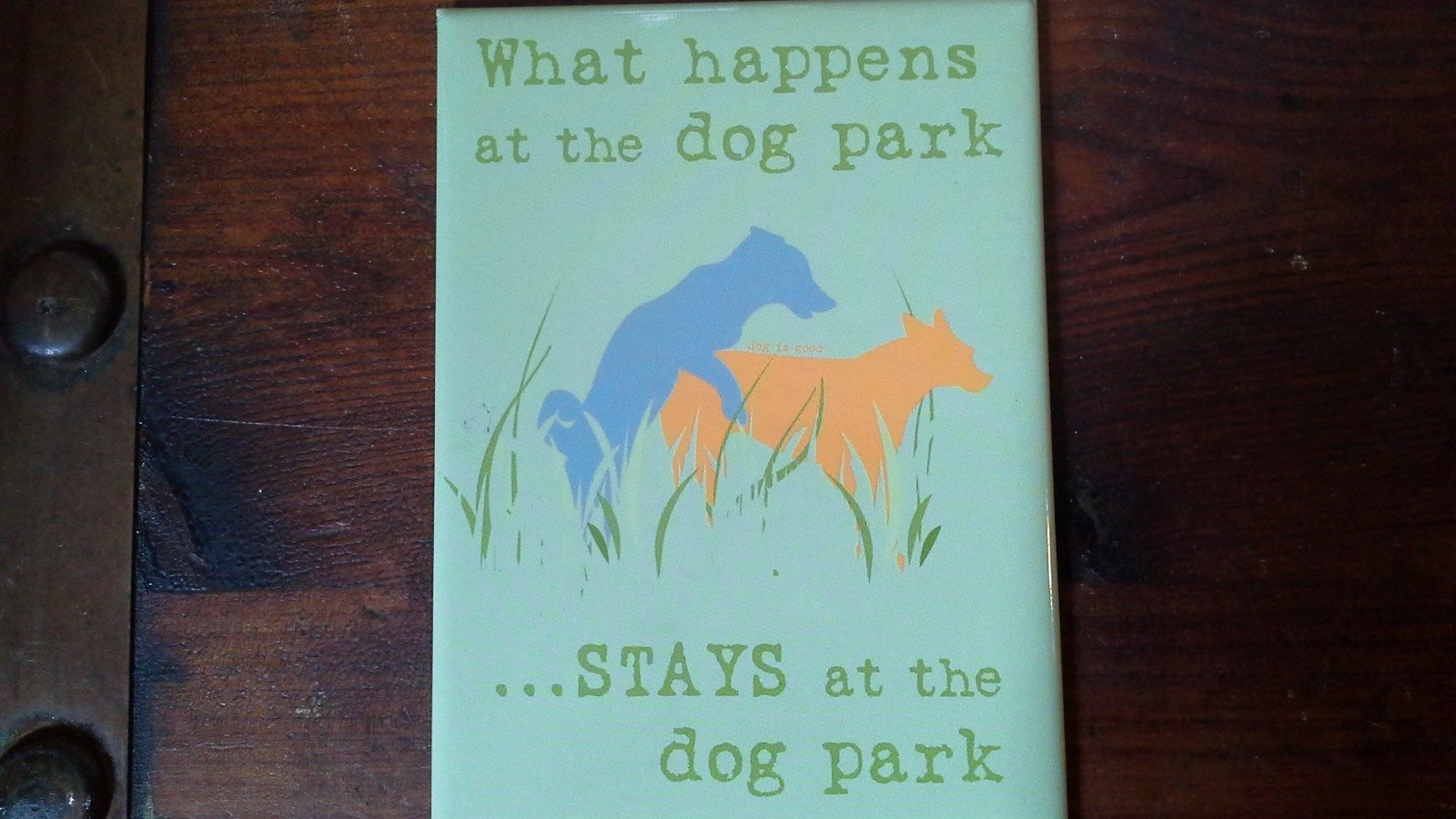 What Happens at the Dog Park STAYS at the Dog Park Magnet