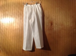 White Alfred Dunner Petite Elastic Waist Casual Pants Size 12P