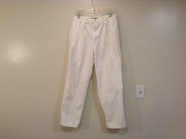 White Andrew Pleated Front Pants Polo by Ralph Lauren Size 30 by 30 Pockets