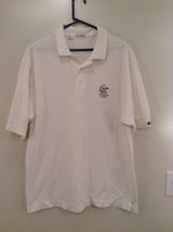 White Atunyote Golf Club Polo Short Sleeve Shirt Cutter and Buck Size XL
