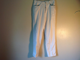White Corduroy J Crew Pants Front and Back Pockets Zipper Button Closure Size S image 1
