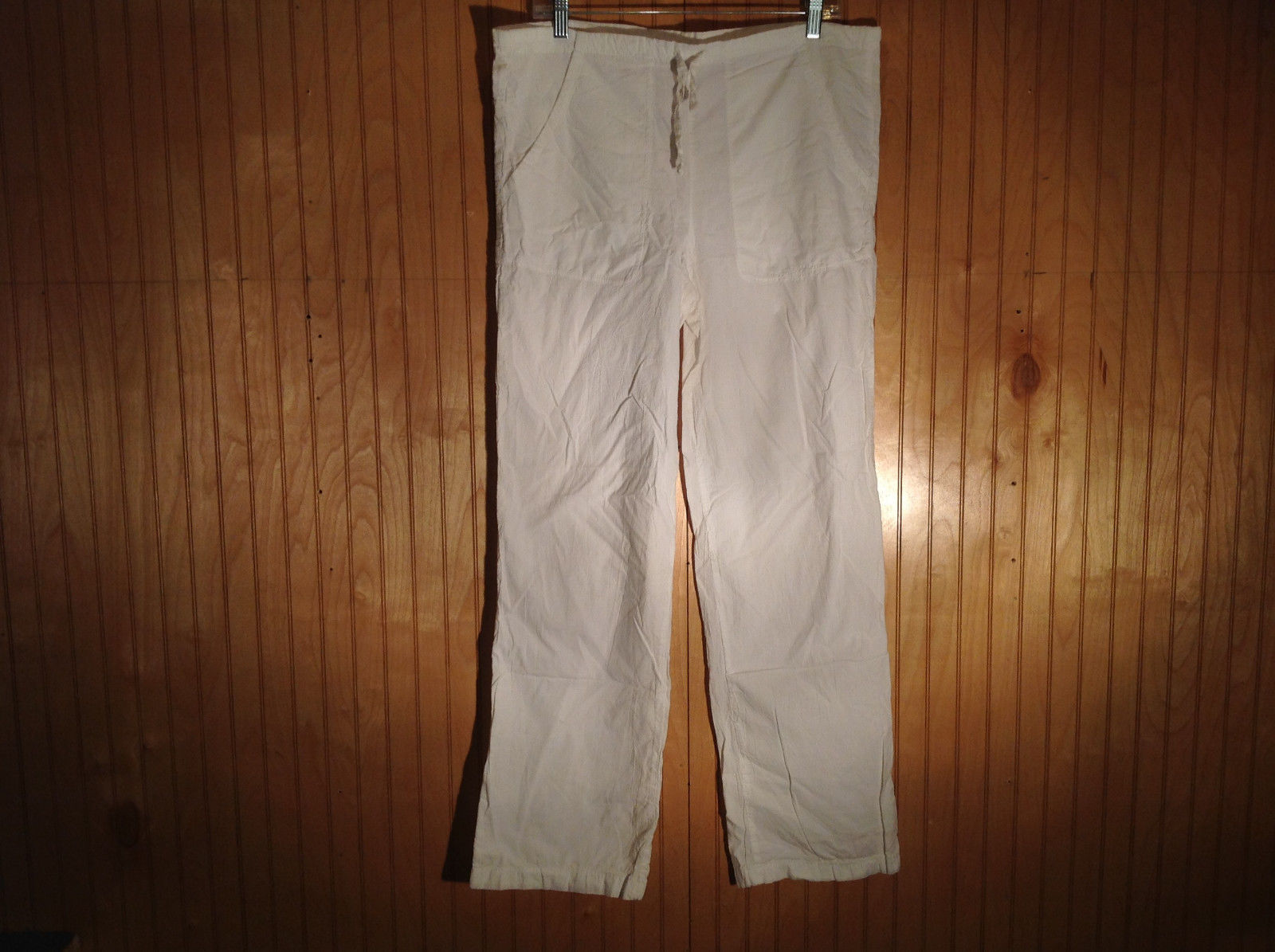 White Cotton Very Light Breathable Material Pants Harris Cotton NO TAG