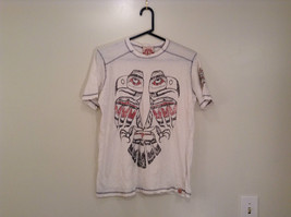 White Graphic Short Sleeve T Shirt 100 Percent Cotton Division Size Small