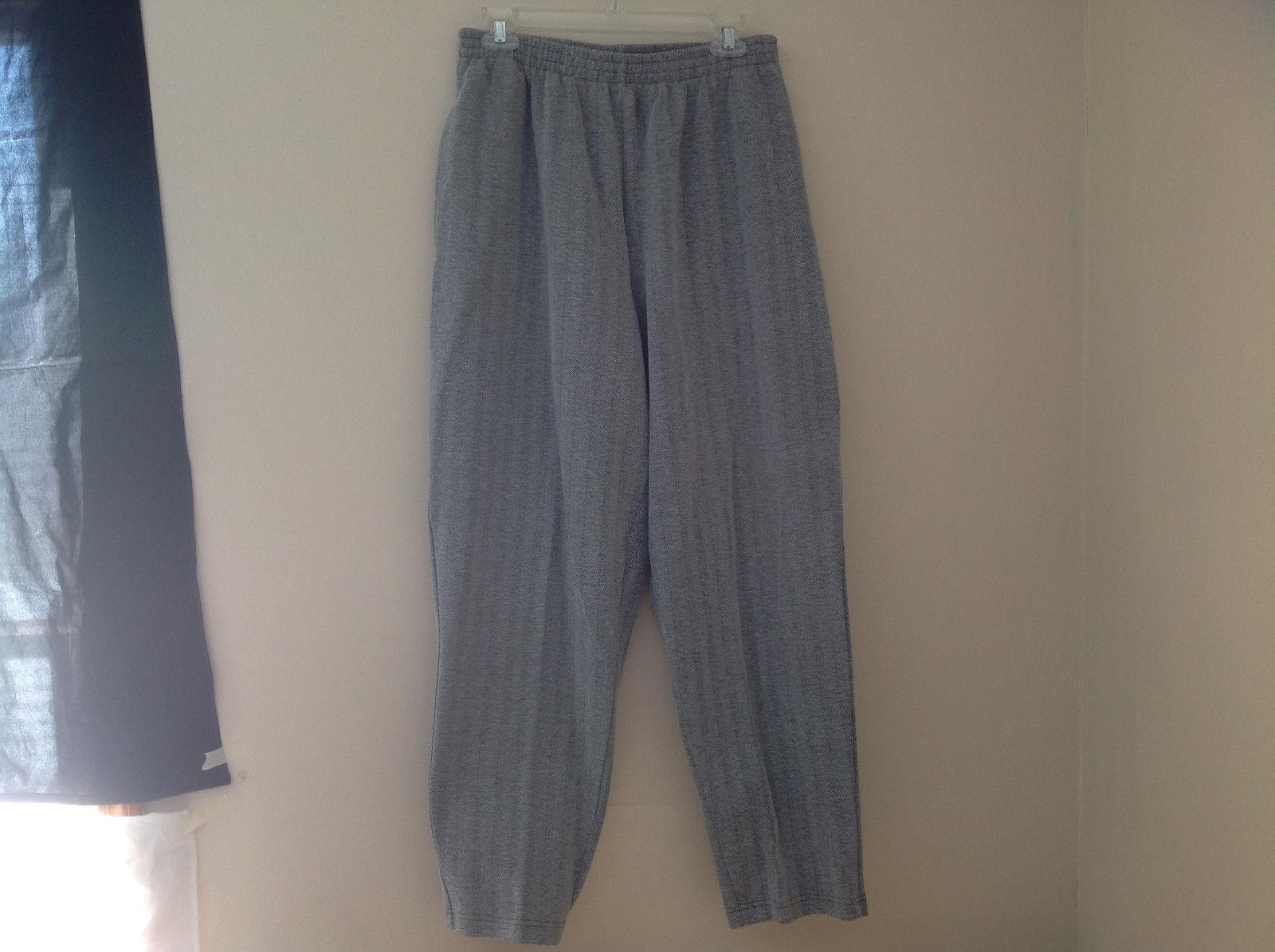 White Gray Black 2 Pocket Herringbone Pant Sweat Pant Material Elisa Beth Size 1