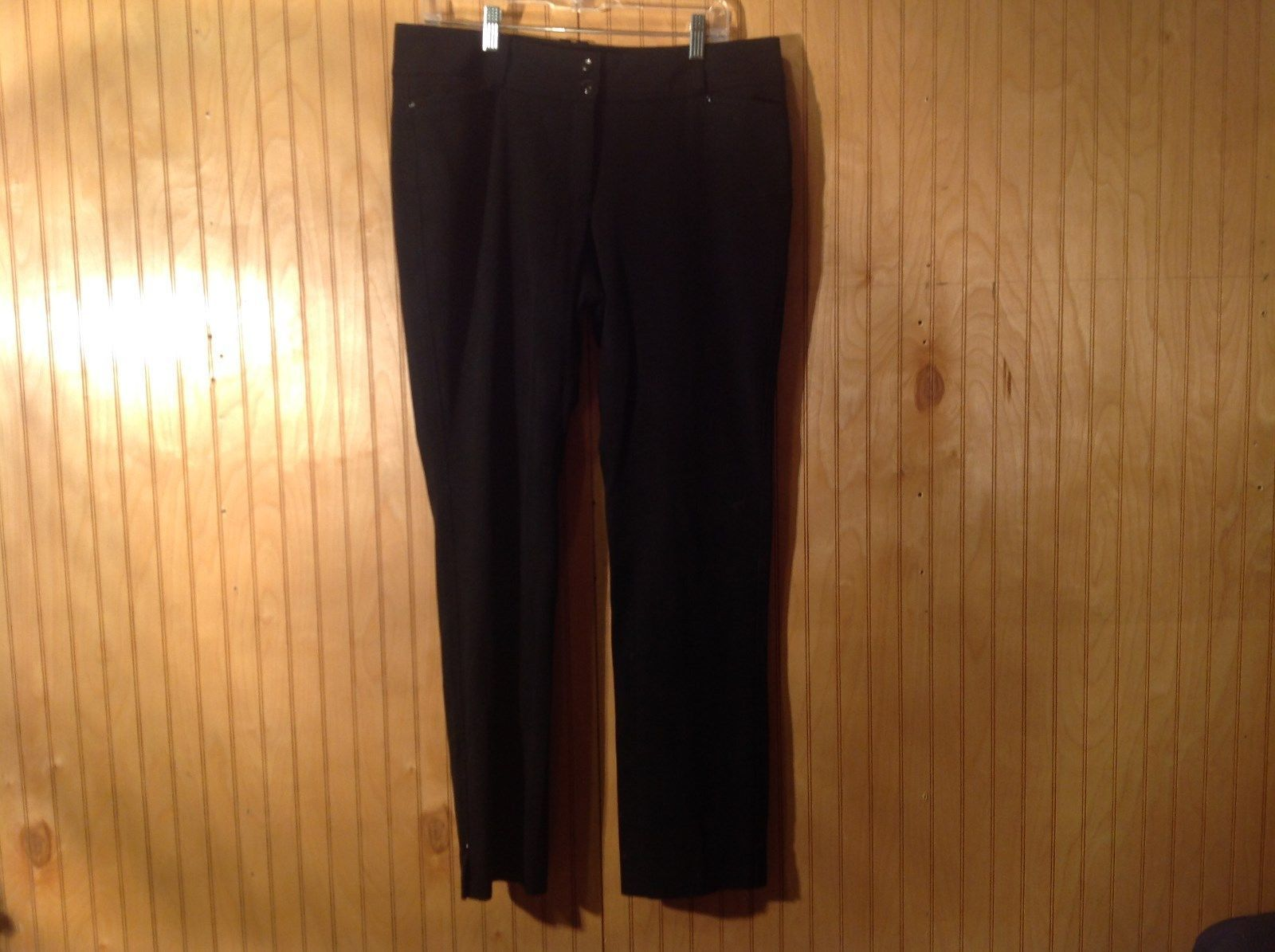 White House Black Market Black Casual Pants Size 12R Slim Leg