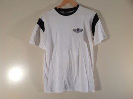 White Harley Davidson T Shirt Number 3 on Back Excellent Condition Size Small
