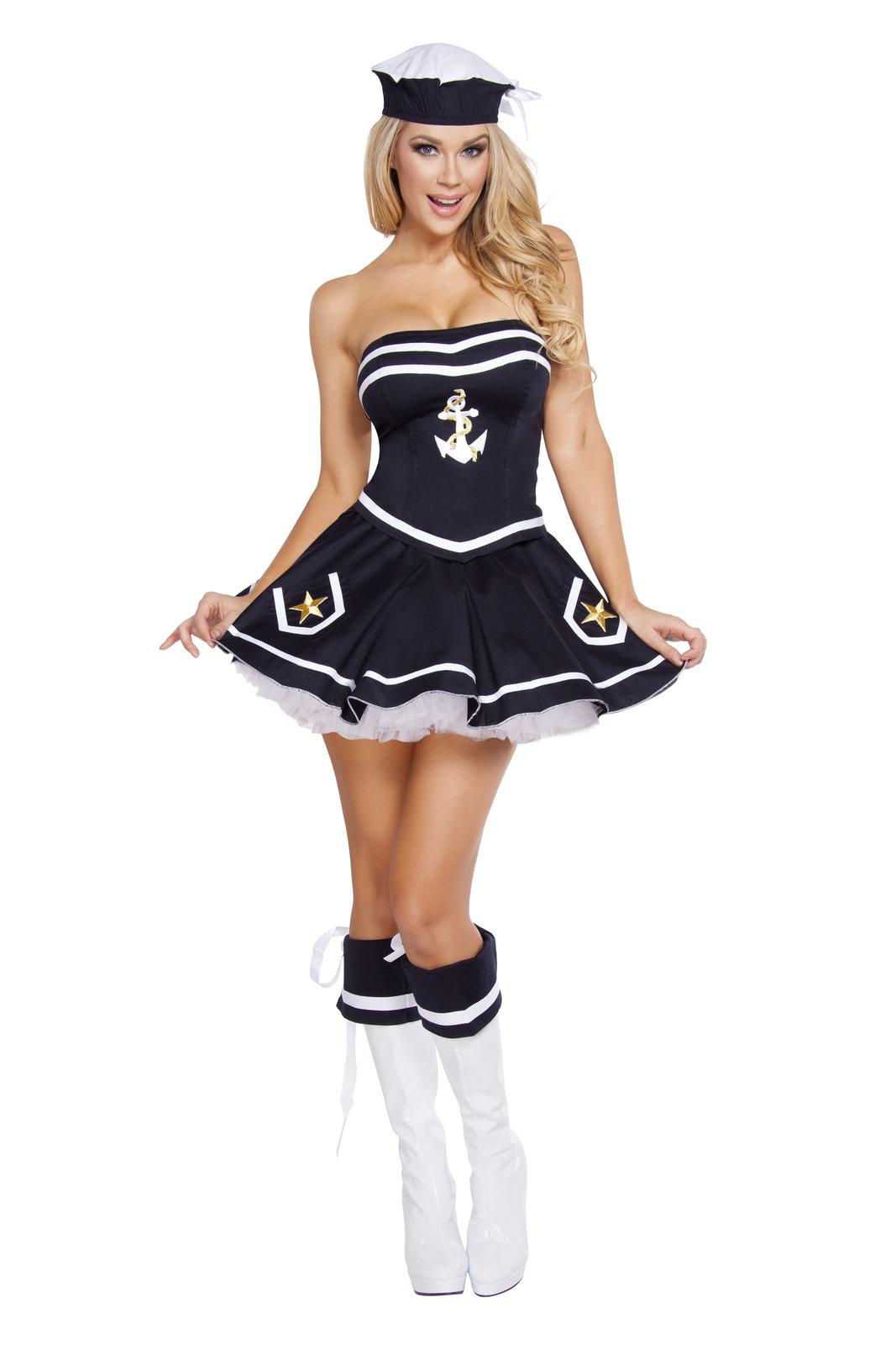 Roma Naughty Navy Yard Vixen Sailor Halloween Costume W/WO EXTRAS XS-M/L 4580  sc 1 st  Bonanza & Roma Naughty Navy Yard Vixen Sailor and 50 similar items