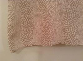 Beige Snake Print Linda Hutton Short Sleeve Blouse 100 Percent Silk Size Large image 5