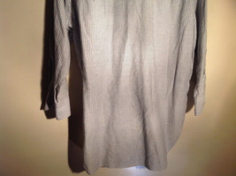 Sofia and Anne White Striped Long Sleeve Button Up Collared Dress Shirt image 6