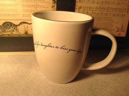 White Minimalist Mug Wishes A Wish for Laughter to Kiss Your Lips Primitives
