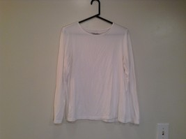 White Long Sleeve Scoop Neck Coldwater Creek Top Size Medium 10 to 12