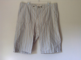 White Light Brown Blue Striped Casual 100 Percent  Cotton Shorts by Lee Size 16M - $34.64