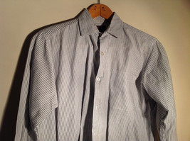 Sofia and Anne White Striped Long Sleeve Button Up Collared Dress Shirt image 3