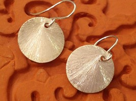 Solid Silver Zina Kao Silver Disk Earrings Handmade in California image 2