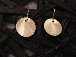 Solid Silver Zina Kao Silver Disk Earrings Handmade in California image 3