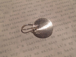 Solid Silver Zina Kao Silver Disk Earrings Handmade in California image 8