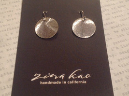 Solid Silver Zina Kao Silver Disk Earrings Handmade in California image 4