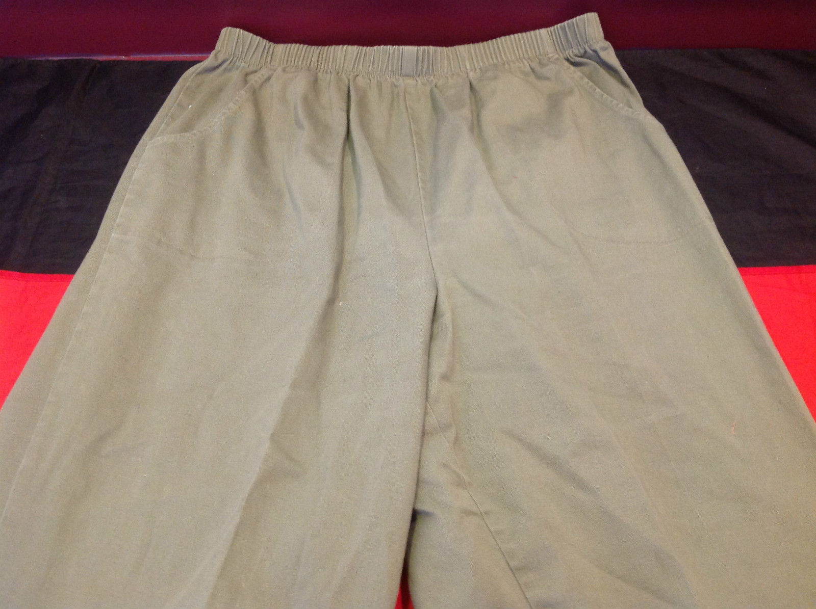 White Stag Stretch Olive Color Womens Pants Size 1X Average 16 Inch W
