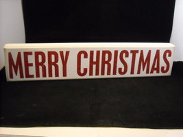 "White Wooden Box Sign ""Merry Christmas"" Saying in Sparkly Glitter - $39.59"