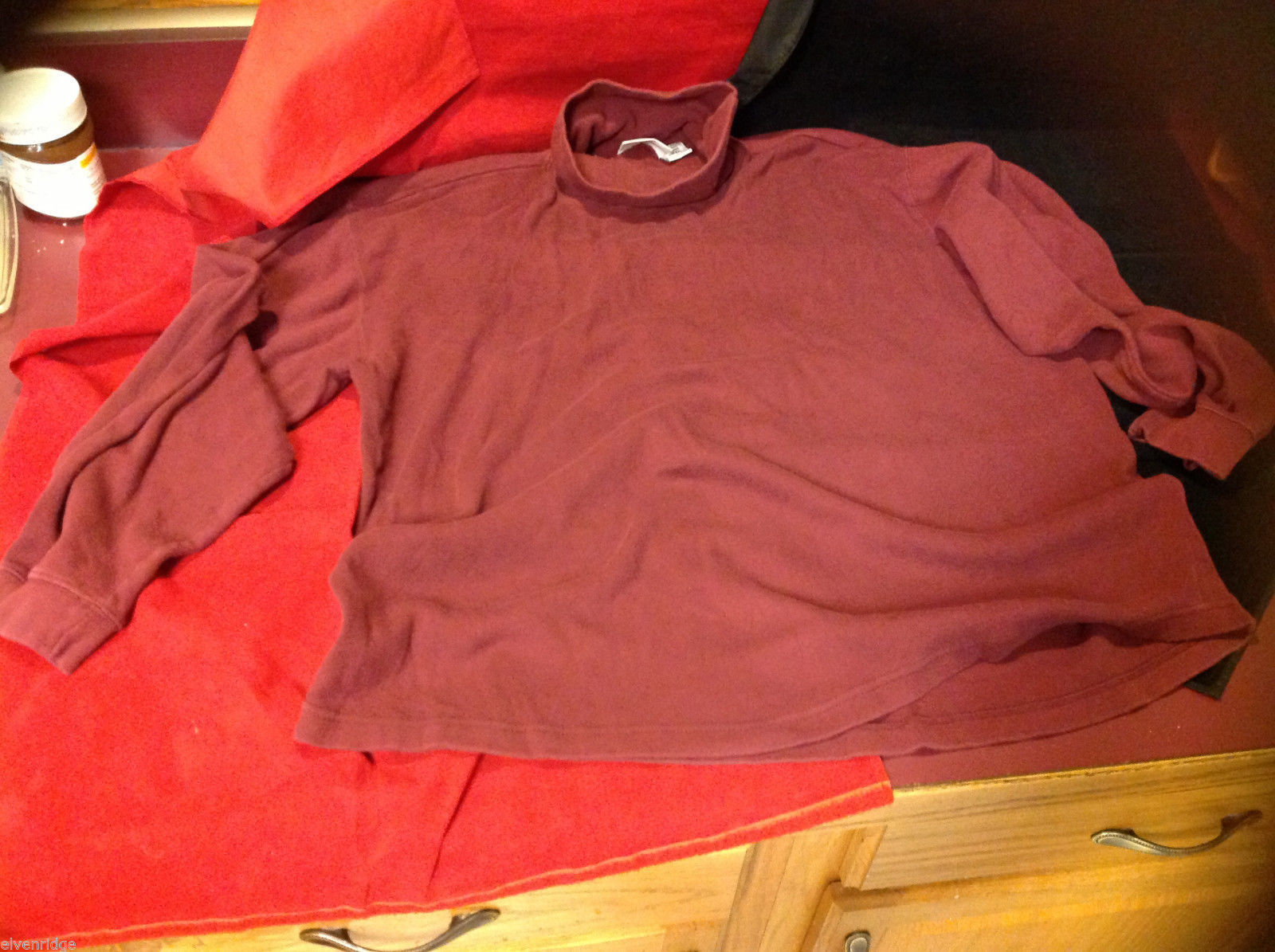 White Mountain Traders Womens Burgundy Red Turtleneck Sweater 2 Extra Large 2XL