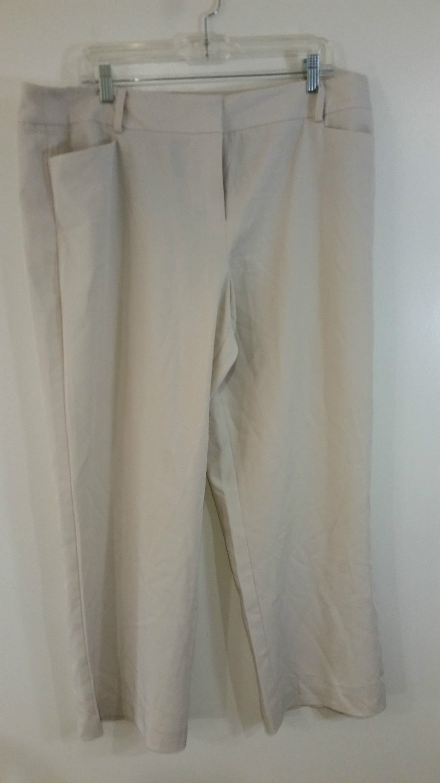 White Pleated Front Dress Pants by George Size 18P 2 Front Pockets 1 Back Pocket