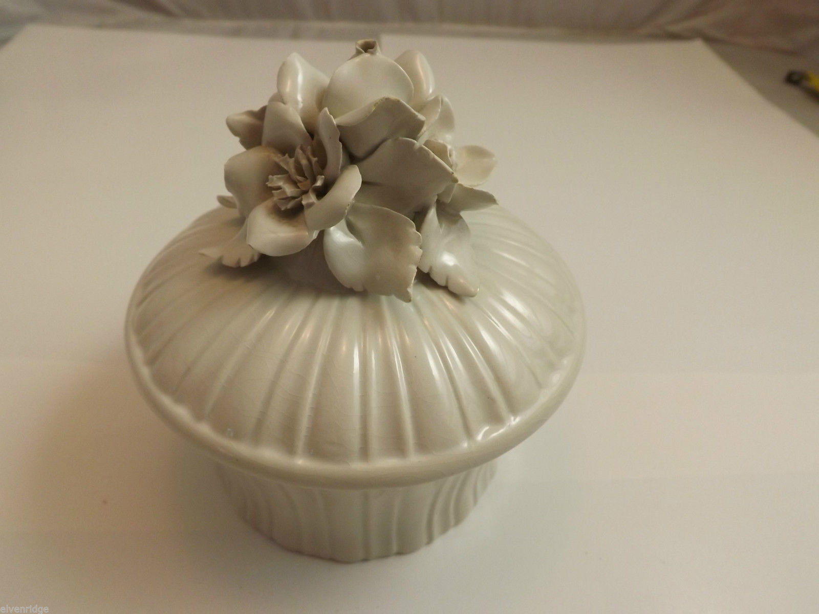 White Porcelain Candy Dish Made in Italy