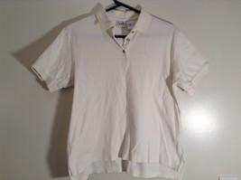 White Short Sleeve Golf Polo Top IZOD 100 Percent Cotton Size Medium