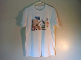 White Short Sleeve T Shirt Gone to the Beach Seashells Design on Front