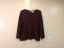 White Stag 100% Cotton Dark Brown Long Sleeves Classic T-shirt, Size 3X(22W-24W)