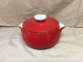 1940's Chinese Red Pert Covered casserole dish - $70.00