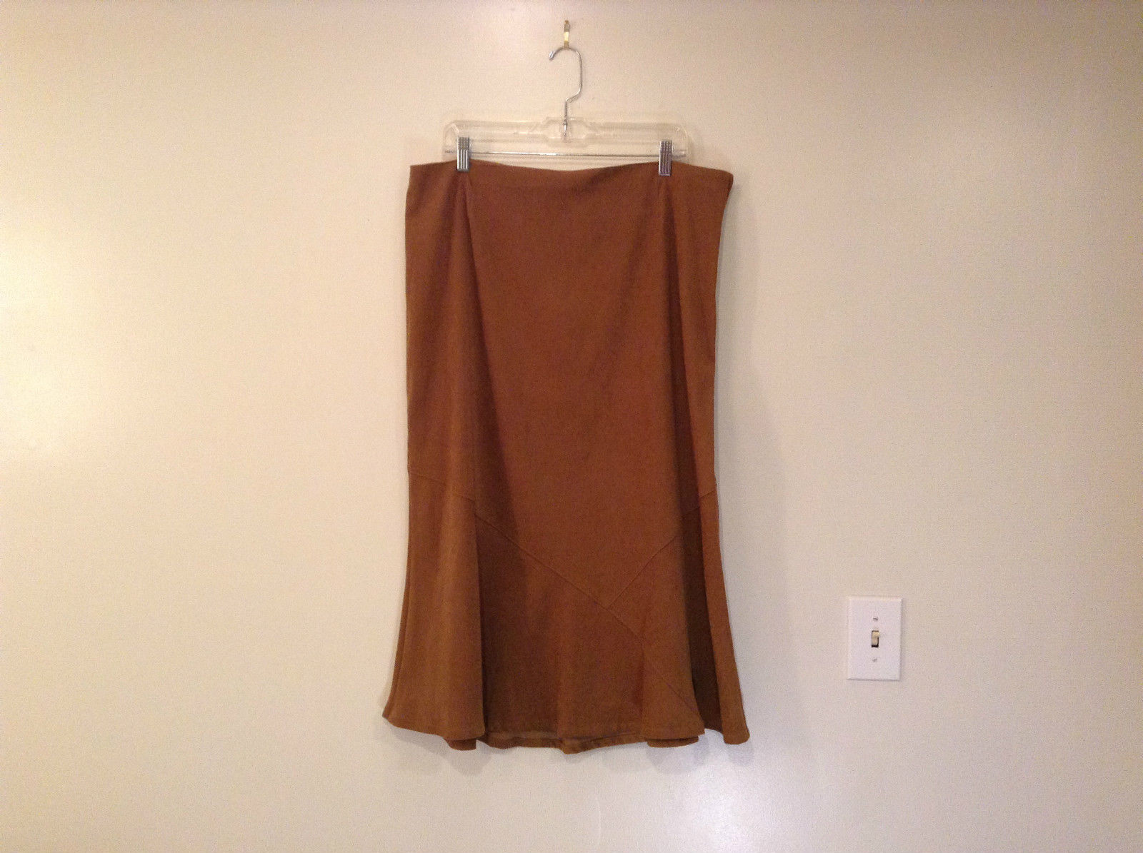 White Stag Petite Size 18 Brown Flare Bottom Skirt