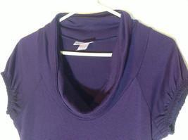 Belle Du Jour dark purple short sleeve dress empire waist size medium image 2