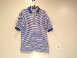 White and Blue Stripes Short Sleeve Tommy Hilfiger Polo Shirt Size XL image 1