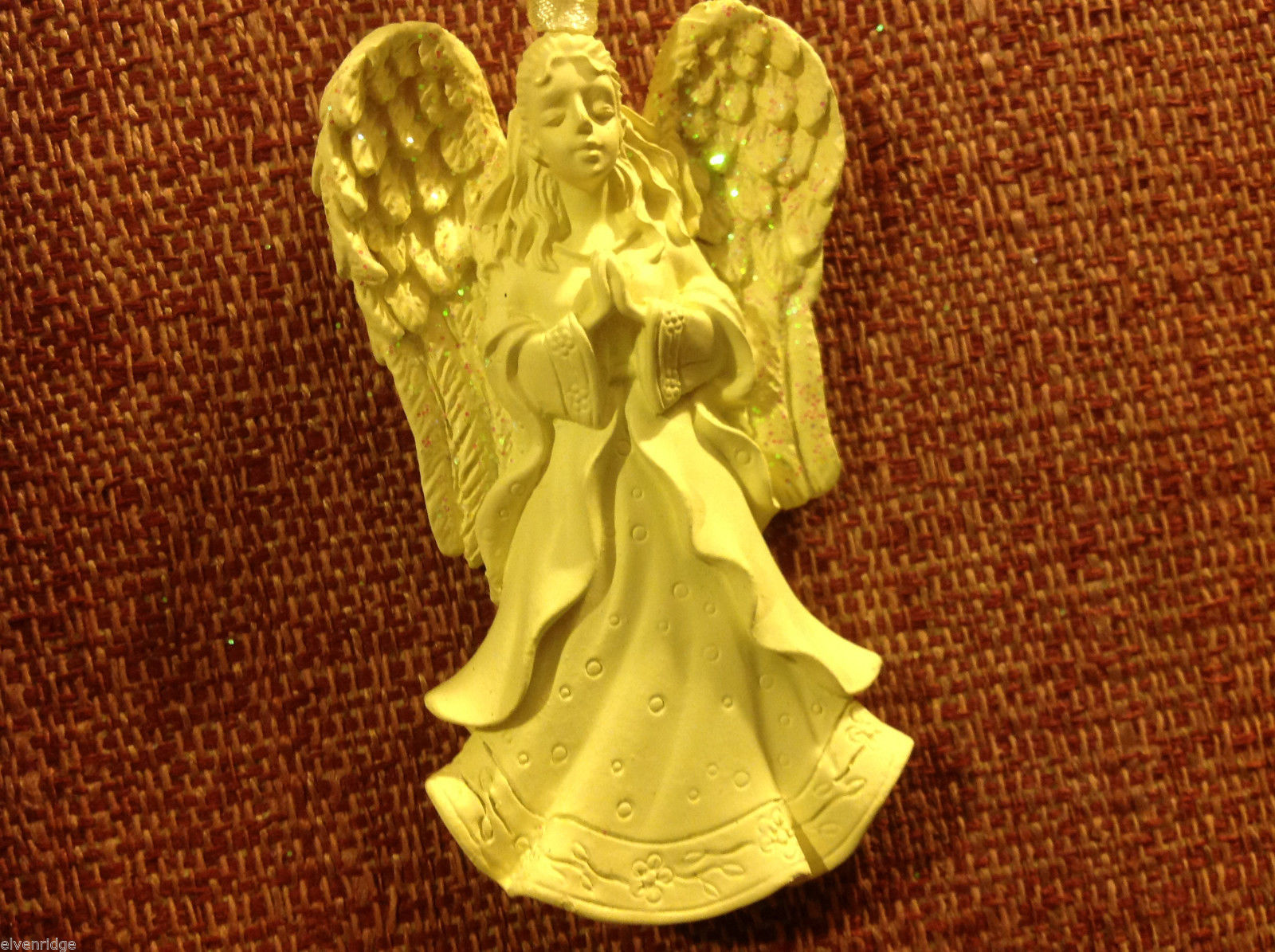 White angel ornament named Heaven's Blessings  in organza gift bag new with tags