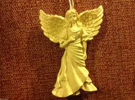 White angel ornament named HOPE in organza gift bag new with tags