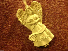 White angel ornament named PEACE in organza gift bag new with tags
