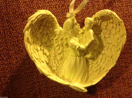White angel ornament named LOVE  in organza gift bag new with tags