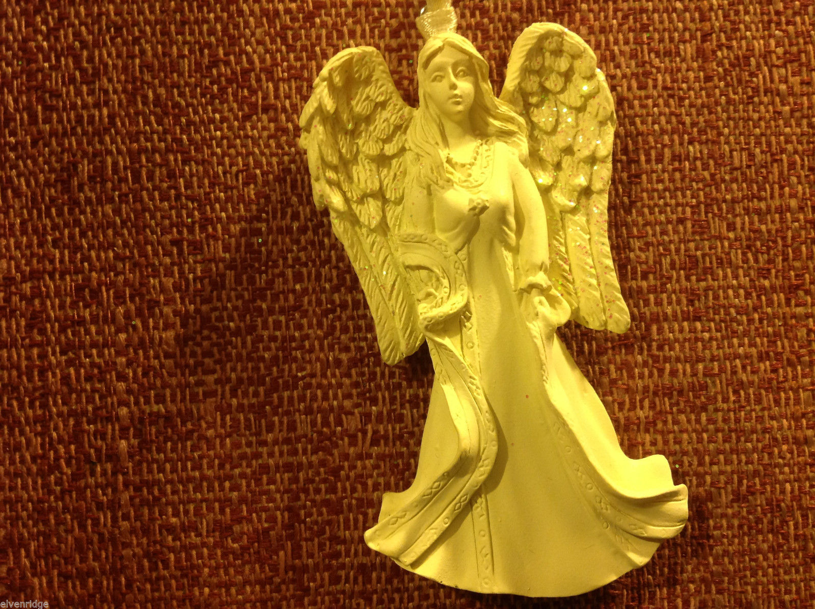 White angel ornament named GRACE  in organza gift bag new with tags