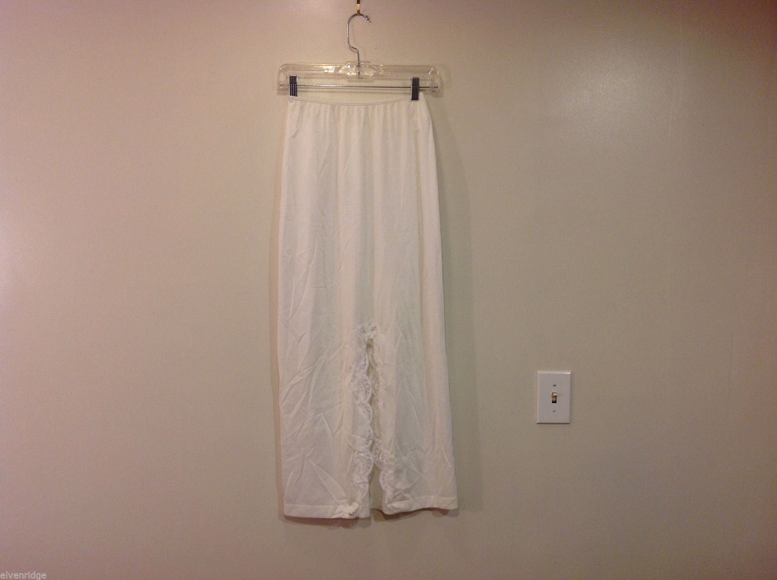 White with Lace Formal Length Underskirt 100% nylon, Size Small, by Sears