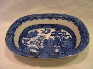 Willow England Flow Blue Asian design Allertons bowl
