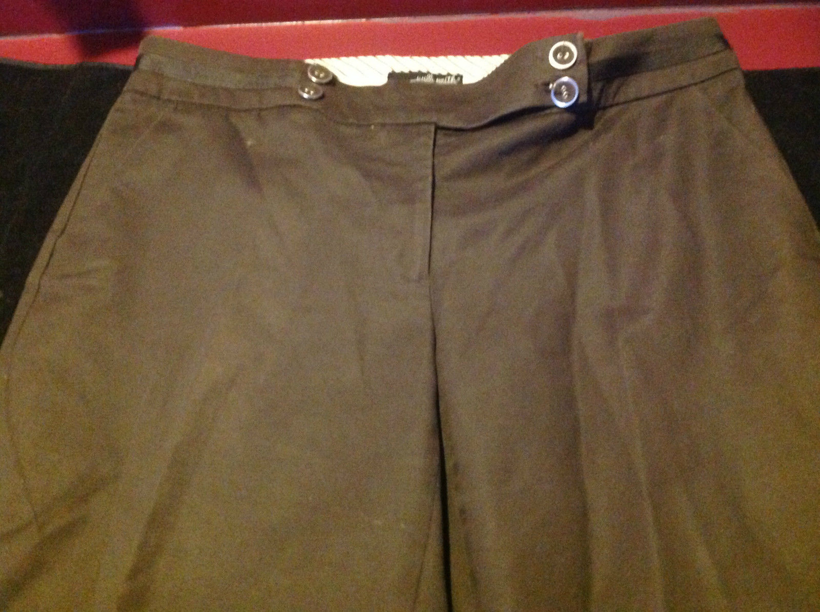 Willi Smith Ava Fit Long Brown Casual Pants Size 12
