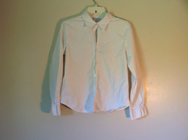 Willi Smith Size Large Stretch Button Up White Shirt Collared Long Sleeves
