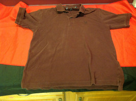 Wine Colored Mens Polo Shirt Size 21 Inch W 27 Inch L 10 Inch Arm 6 Inch Neck