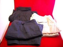 Women 26W Khaki pants sweats Linen shorts mixed lot L